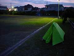 野宿 テント